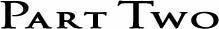 Logo for Part Two, hvorfra vi forhandler bukser, kjoler og andet tøj.